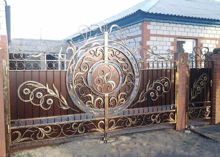 Ворота с калиткой МС-049