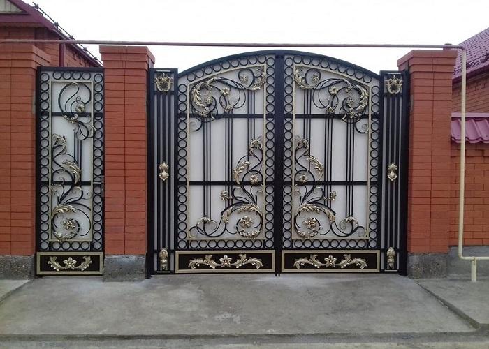 Ворота с калиткой МС-053