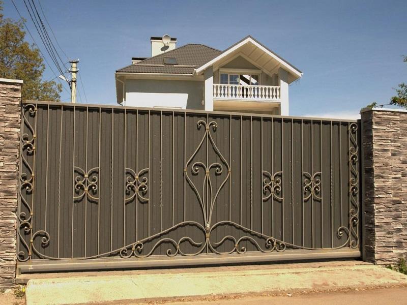 Откатные ворота ОВ-909