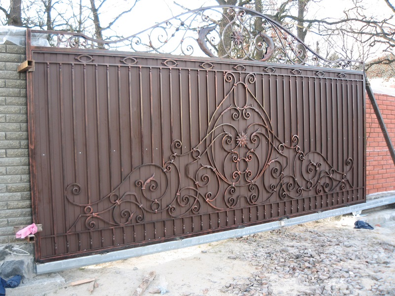 Откатные ворота ОВ-910