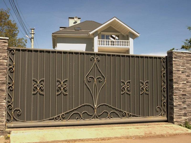 Откатные ворота ОВ-927