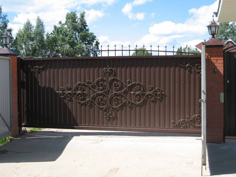 Откатные ворота ОВ-928
