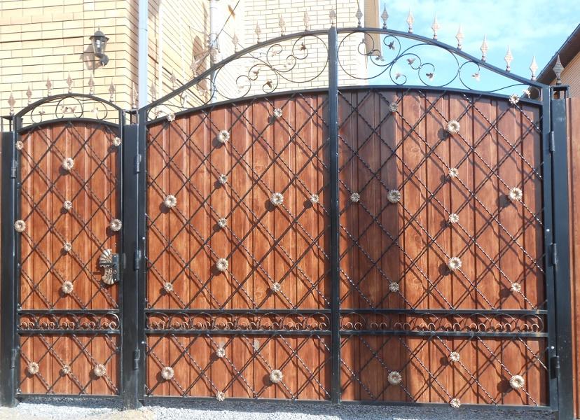 Ворота с калиткой МС-007