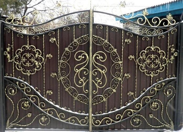 Ворота с калиткой МС-025