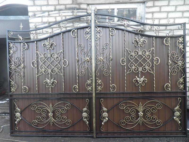 Ворота с калиткой МС-035