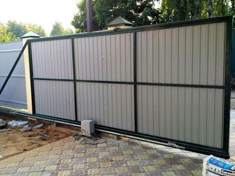 Откатные ворота ОВ-940 (4,5*х2 м)