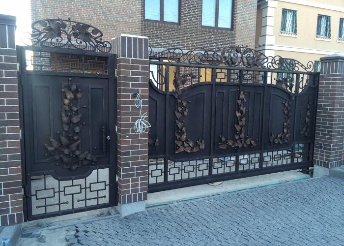 Ворота с калиткой МС-032