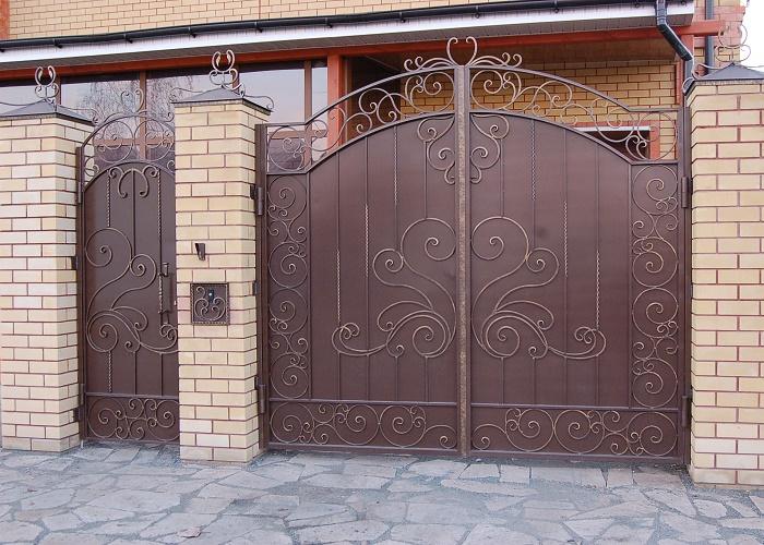 Ворота с калиткой МС-036