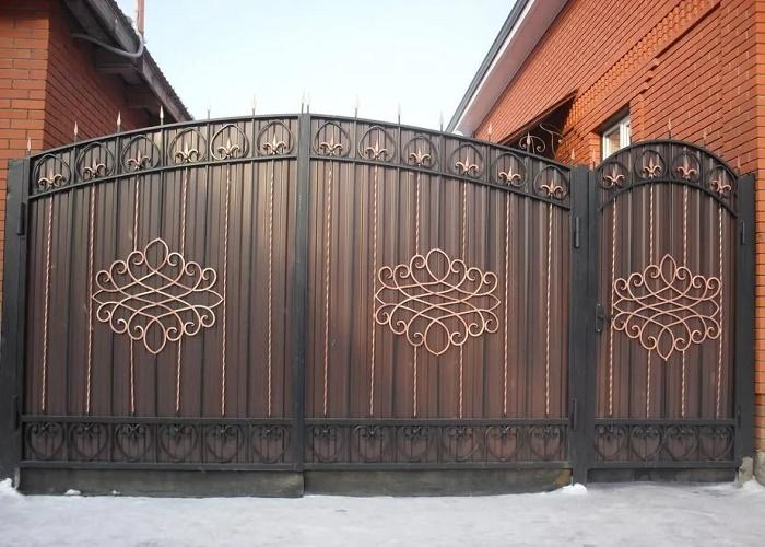 Ворота с калиткой МС-039
