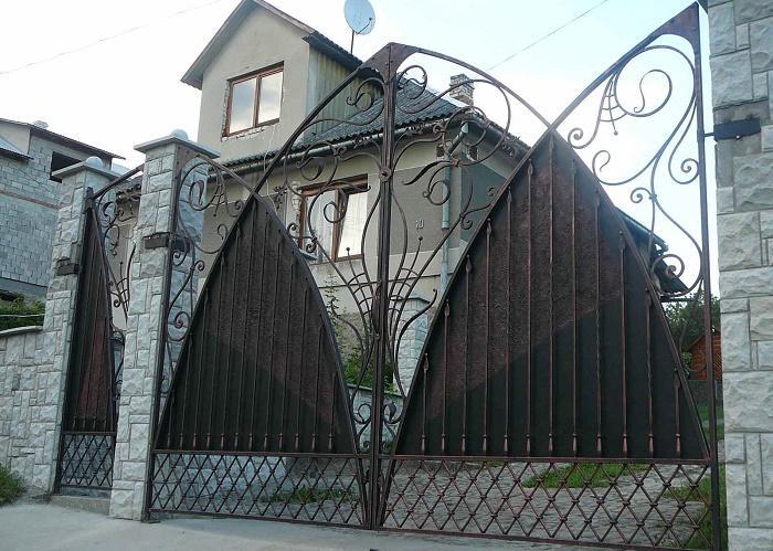 Ворота с калиткой МС-037